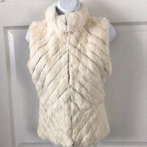 Arden B Off White Fur Vest